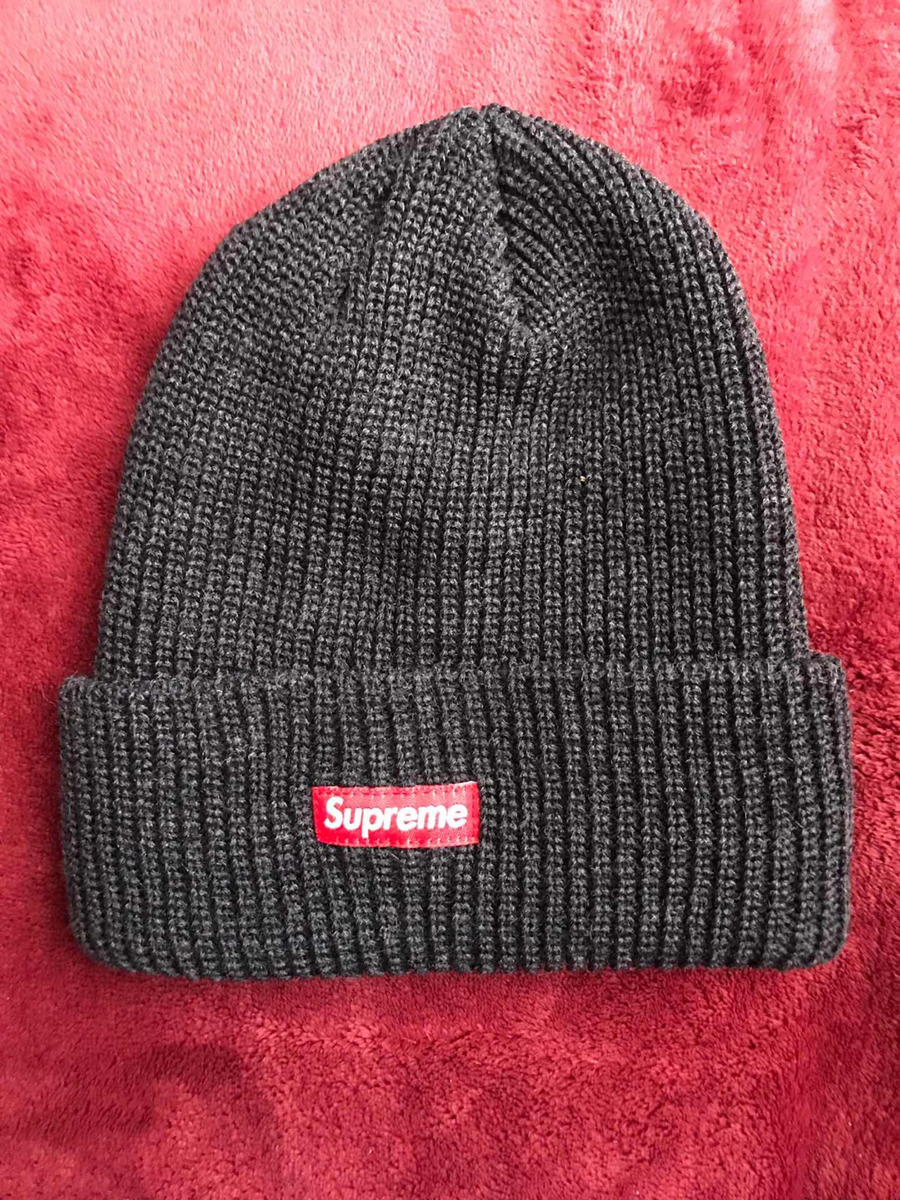 1ab1a4839a5cb supreme heater loose gauge beanie heather navy. Cargando zoom.