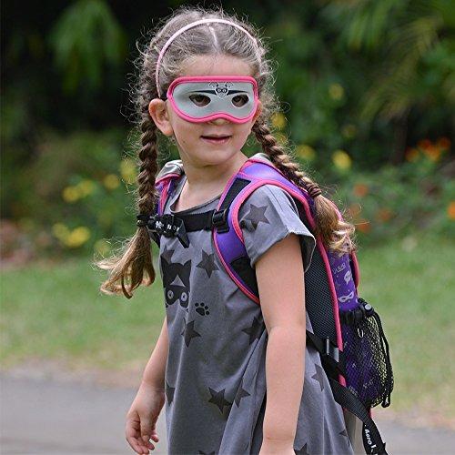 supreme kids 'cape backpack (morado y plateado), mochila par
