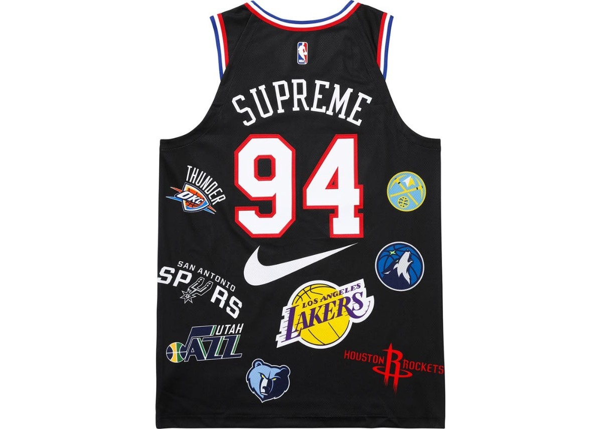 supreme nike nba teams authentic jersey black nuevo original. Cargando zoom. 8dc6eda7a