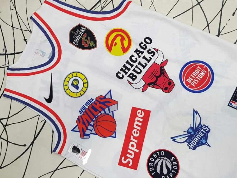 online store 631f0 fe5de Supreme X Nike Nba Jersey White