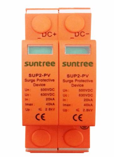 supresor de picos cd fotovoltaico  500 vdc mc4