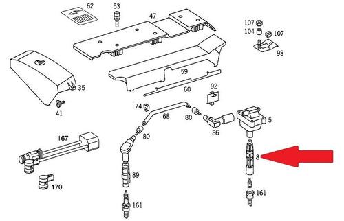 supressor bobina ignição mercedes c230 elegance 96-98
