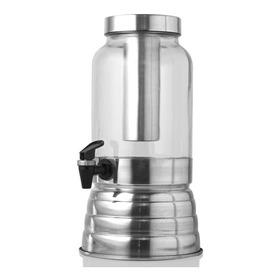 Suqueira C/ Porta Gelo 3 Litros Polida Aluminio E Vidro