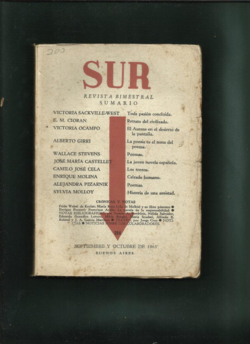 sur. nº 284. revista bimestral. directora v. ocampo.