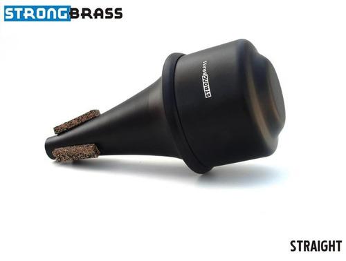surdina strong brass straight cor alumínio escovado trompete