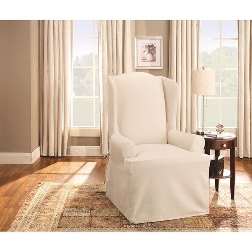 sure fit cotton duck wing cubierta para sillon