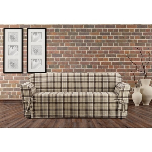 sure fit highland holiday plaid cubresofas