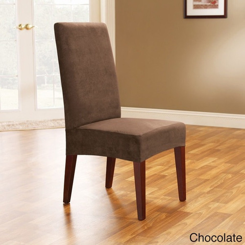 sure fit smooth suede shorty dining room sillon cover