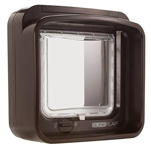 sureflap microchip dualscan gatera en brown, small / medium