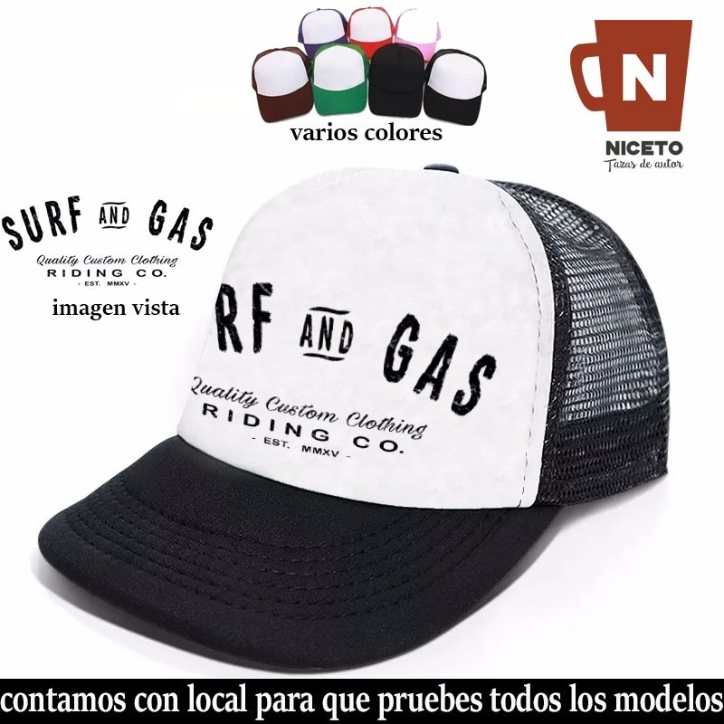 Surf Gorra Trucker Coleccion Niceto Modelo Gas Calidad 1 -   345 50144751ad9