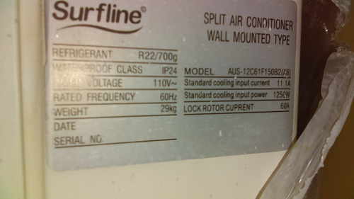 surfline aire acondicionado split