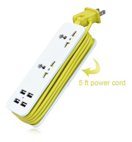 surge protector k-century travel power strip de 2 salidas