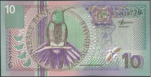 suriname 10 gulden 1 ene 2000 p147