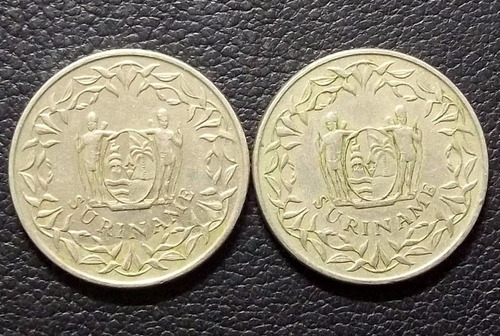 suriname lote x2 - 1988 - 1989 - 100 cents