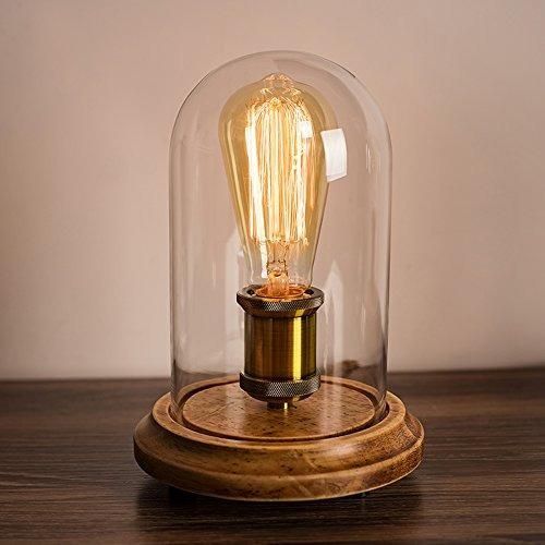 surpars house vintage desk lamp glass shade lámpara de mes