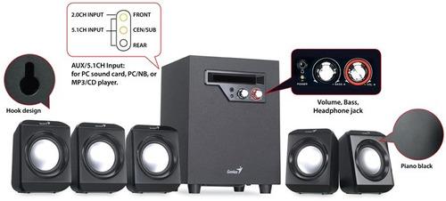 surround speaker system 5.1 genius