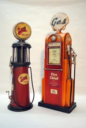 surtidor gasolina decorativo en escala chapa miniatura
