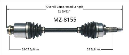 surtrack mz-8155 cv eje del eje
