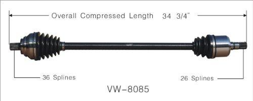 surtrack vw -8085 eje de eje cv
