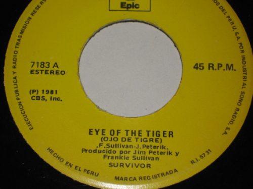 survivor  disco 45 rpm vinilo eye of the tiger