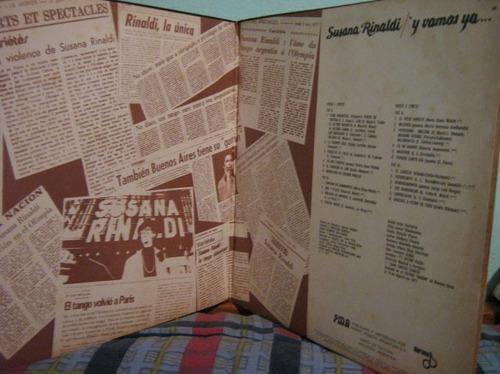 susana rinaldi - y vamos ya...lp duplo 1977 import argentina