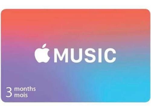 suscripción de 3 meses apple music(nueva cuenta)