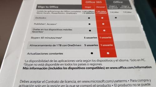 suscripción personal office 365
