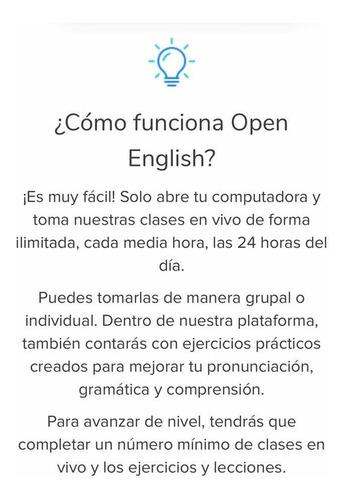 suscripción x 12 meses en open english - aprende inglés !