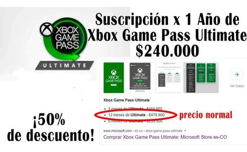 suscripción xbox game pass ultimate 1 año