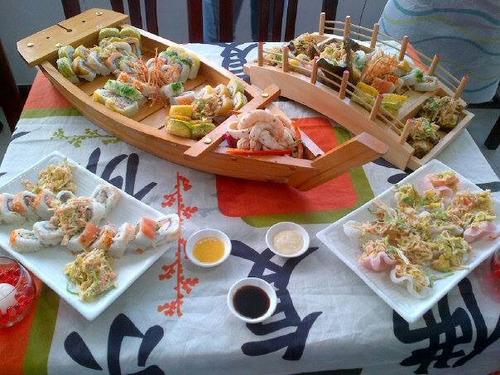 sushi talleres curso  programados a domicilio