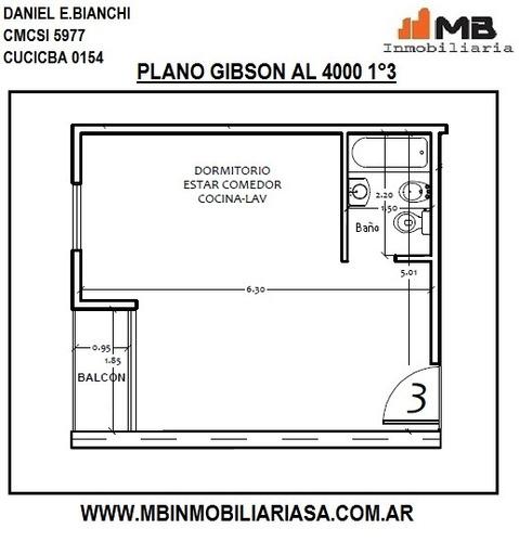 suspendido!! boedo ph monoamb.c/balcón gibson al 4000 1°3