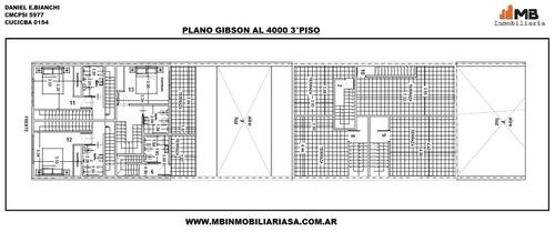 suspendido!!boedo ph 2amb.c/doble patio gibson al 4000 pb°1