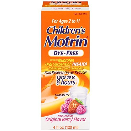 suspensión oral de motrin con dye-free berry, 4 oz