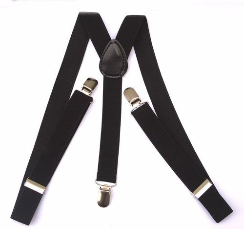 suspensório  preto - largo 2,5cm - promoção ref 244