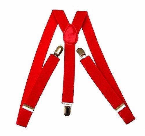 suspensório vermelho - largo 2,5cm ref 244