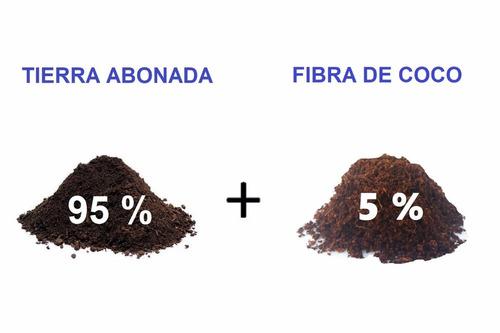 sustrato de tierra con nutrientes y fibra de coco 5 kilos