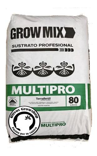 sustrato grow mix multipro tierra fértil 80 l  - olivos grow