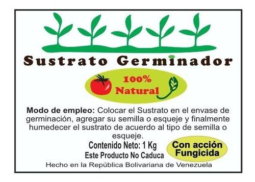 sustrato orgánico germinador de semillas (empaques 1 kg)