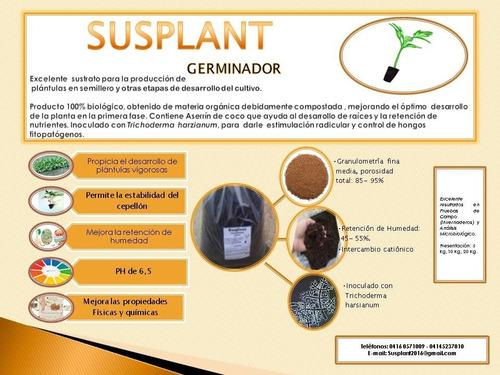 sustrato para germinación y desarrollo de plantas.