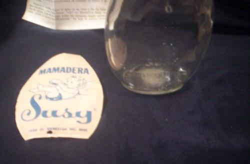 susy antigua mamadera vidrio cristalux para bienestar bebe