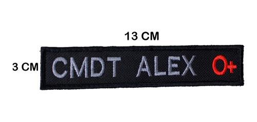 sutache tarjeta de identificação militar com tipo sanguíneo