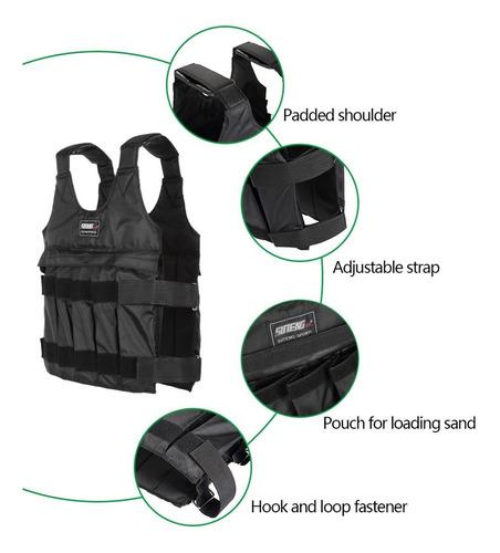 suteng 50kg máx carga chaleco de entrenamiento de fitness c