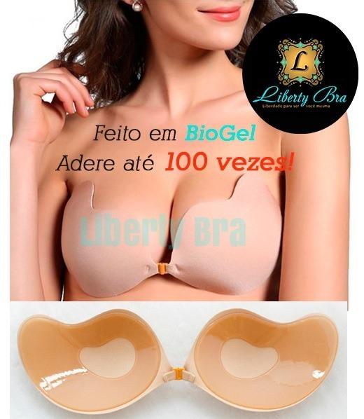 f9265bf37 Sutiã Adesivo Biogel Cola 100x Invisível Libertybra Original - R  69 ...