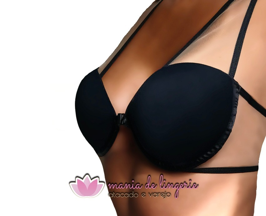 c2cd32008 sutiã bojo strappy bra tule sensual luxo soutien lingerie. Carregando zoom.