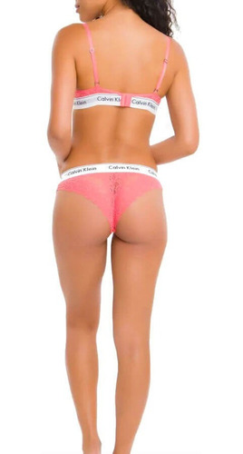 sutiã com bojo calvin klein underwear ribana com renda luc11