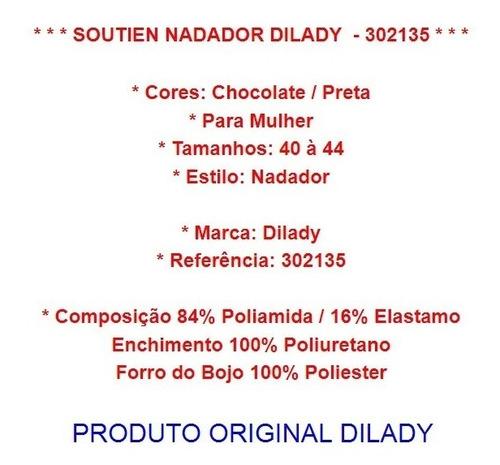 sutiã nadador soutien dilady 44 a 50 chocolate original novo