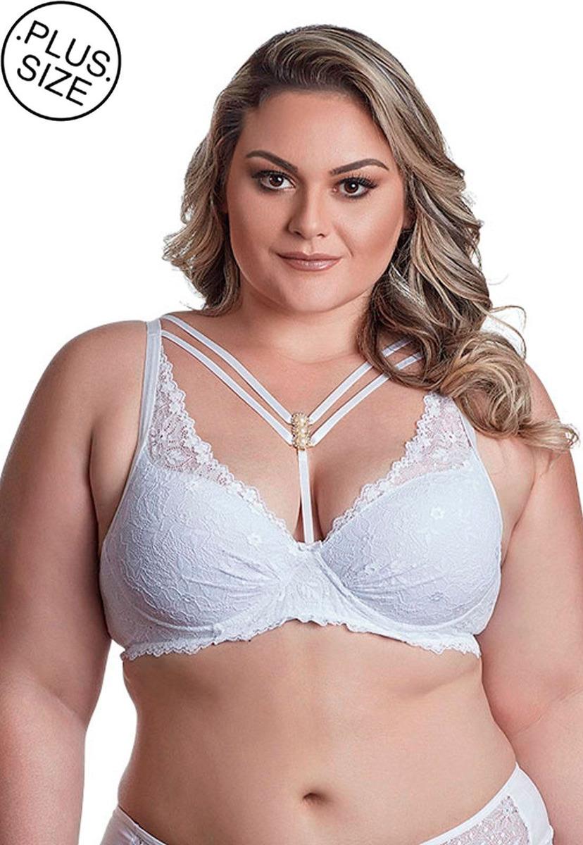 b4429995a sutiã strappy de renda dukley lingerie plus size. Carregando zoom.