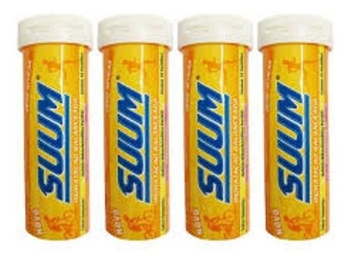 suum repositor hidratação sais minerais tangerina. (4 tubos)