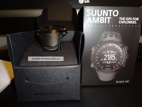 suunto ambit heart rate monitor: black  ss018373000