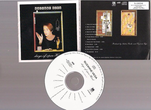 suzanne vega - days of open hand -  cd - by maceo